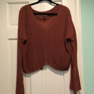 Rust colored light sweater